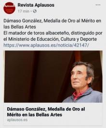 DAMASO MEDALLA DE ORO